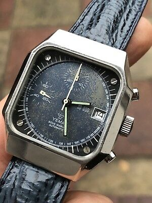 Jewelry & Watches Ambitious Vintage Yema Y10 Automatic Chronograph Mens Watch Great Patina Val.7754 35,8mm Cheapest Price From Our Site