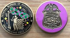 FBI - New Orleans Field Office -  NOLA pink BADGE version BCAM challenge coin