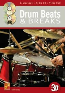 Details about Learn to Play Sonny Jones Drum Beats & Breaks DRUMS MUSIC  Tutorial BOOK CD DVD