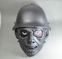 Black Airsoft Paintball Cs Abs Full Face War Ii Zombie Mask Simple Practical