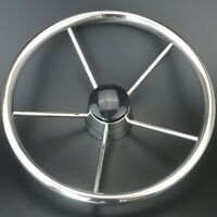 Hot Sale 5 Spoke Destroyer Style Stainless Boat Steering Wheel 13-1/2''