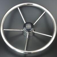 Hot Sale 5 Spoke Destroyer Style Stainless Boat Steering Wheel 13-1/2''