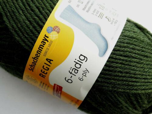 *6-fädig* 6 fach Regia Sockenwolle 50g Farbe 1994 7,00€//100g