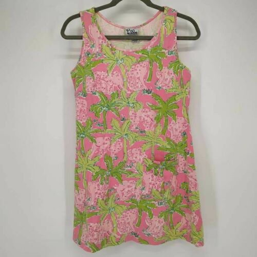 Lilly Pulitzer Womens Tank Top Pink Elephants Palm