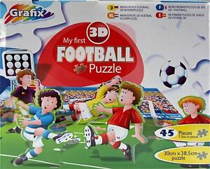 Grafix Enfants Mon Premier 3D 45 Pièce Football Puzzle Hobby Jouet 0178