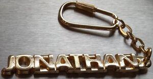 Luxus-accessoires Edler SchlÜsselanhÄnger Jonathan Vergoldet Gold Name Keychain Weihnachtsgeschenk Schlüsselanhänger