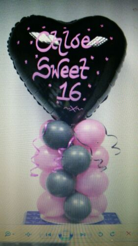 Personalised Foil Balloon Air Filled Table Centrepiece