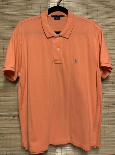 Vintage Ralph Lauren Blue Label Polo - Orange/Peac