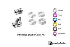Dress Up Bolts for 02-04 Infiniti I35 VQ35DE Polished Titanium Engine Cover Kit