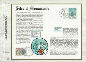FEUILLET-CEF-1er-JOUR-MONACO-SITES-ET-MONUMENTS-1983