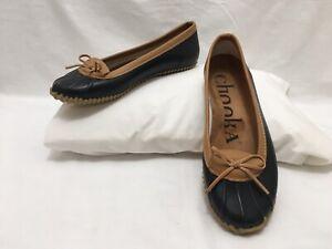 Flats rain shoes rubber women Sz 10