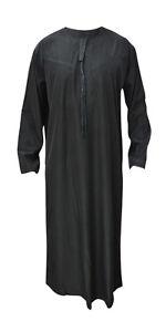 UAE-STYLE-BLACK-ARAB-THOBE-DISHDASH-GOWN-DRESS-MEN-ROBE-GIFT-EID-LUXURY-DESIGNER