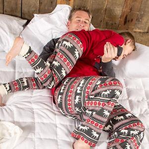 313aa4ab8c UK Family Christmas Women Men Kids Baby Moose Sleepwear Nightwear ...