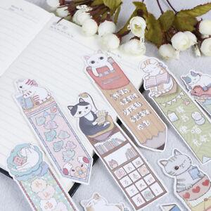30Pcs-Lot-Cute-Funny-Cat-Bookmark-Paper-Cartoon-Animals-Bookm-GD