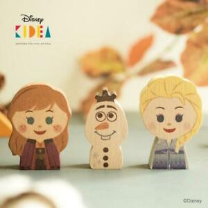 Disney KIDEA Frozen 2 Wooden Block Toys Elsa Anna Olaf from japan