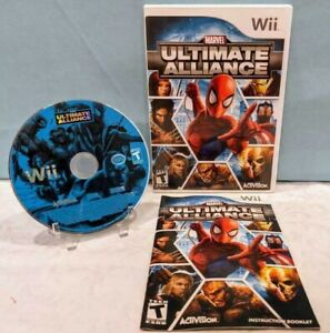 Marvel: Ultimate Alliance (Nintendo Wii, 2006) with Manual - Tested & Working