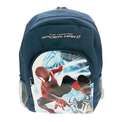 Official Amazing Spiderman 2 Marvel Sports Backpack Bag Pockets Licensed Genuine