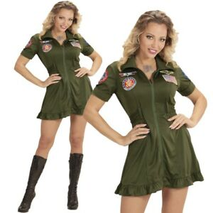 Jet Verkleidung Gr L Kampfjet Pilotin Damen Kostüm