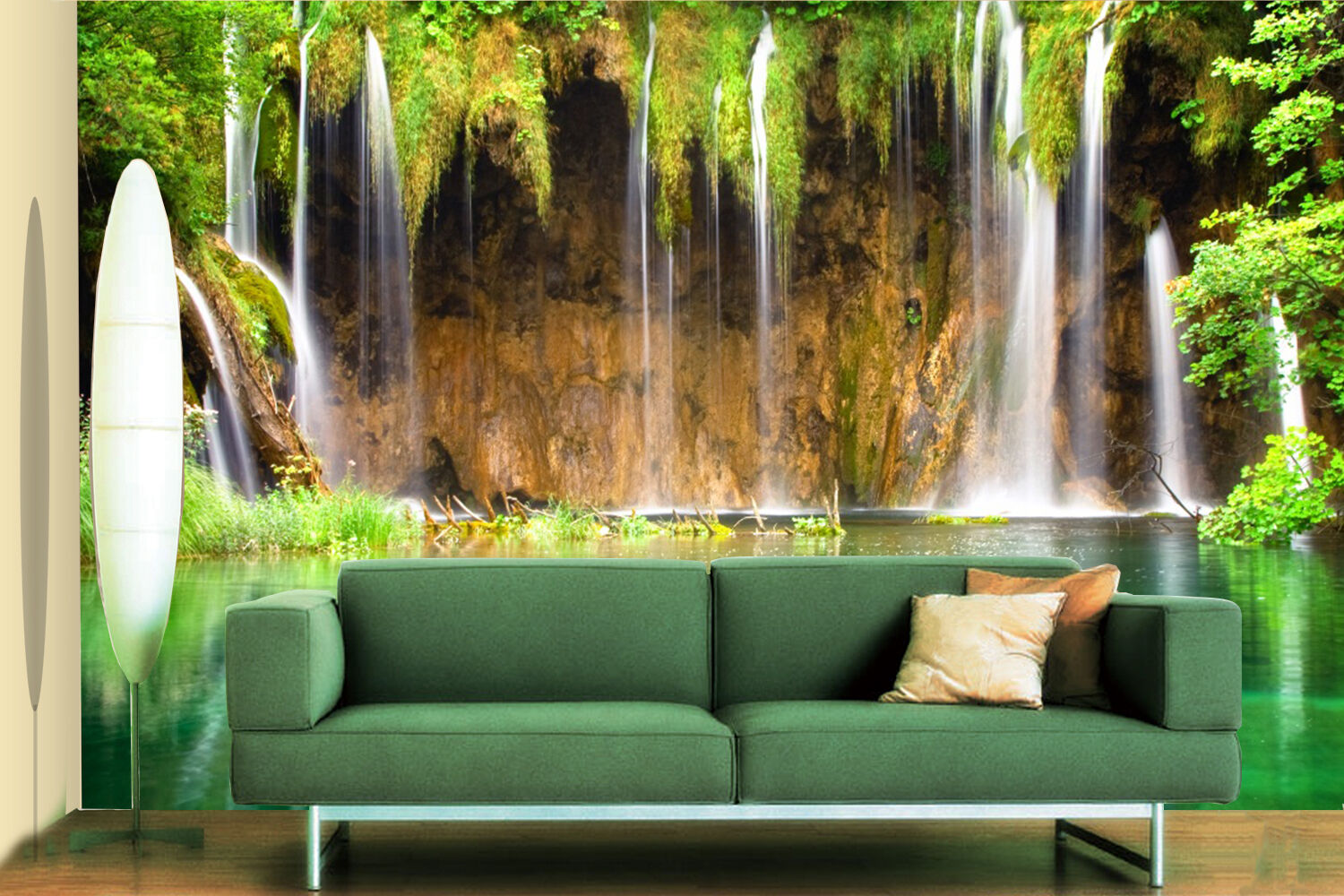 3D Lake, woods 466 Wall Paper Print Wall Decal Deco Indoor Wall Murals