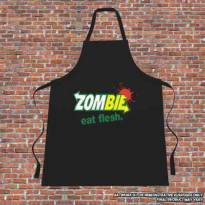 """""""zombie Mangia Sano"""" Grembiule. Cucinare. Metropolitana Di Cucina.- Prezzo Basso"""