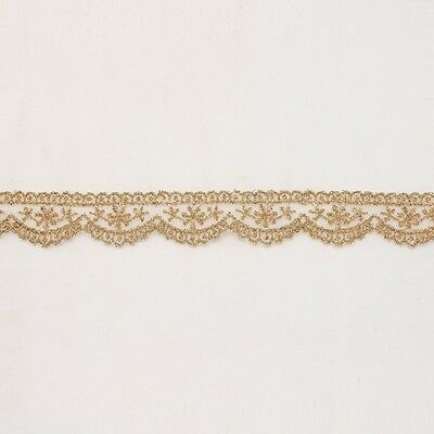 SCALLOPED Metallic Embroidered Venise Lace Trim #272 - Bridal Wedding Dress etc.