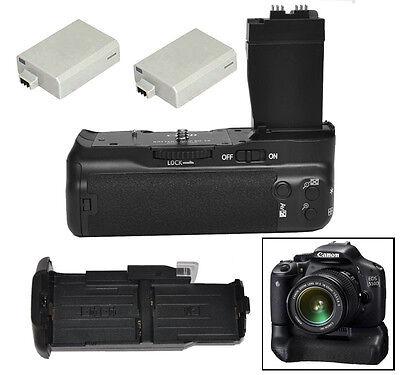 Battery Grip Pack for Canon EOS T2i T3i T4i T5i 550D 600D 650D 700D + 2x LP-E8