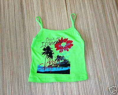 NWT:Girl's Hawaiian logo lime small tank top