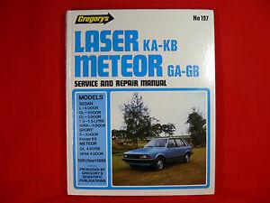 GREGORY-039-S-Ford-Laser-KA-KB-Meteor-GA-GB-1981-85-Service-amp-Repair-Manual-No-197