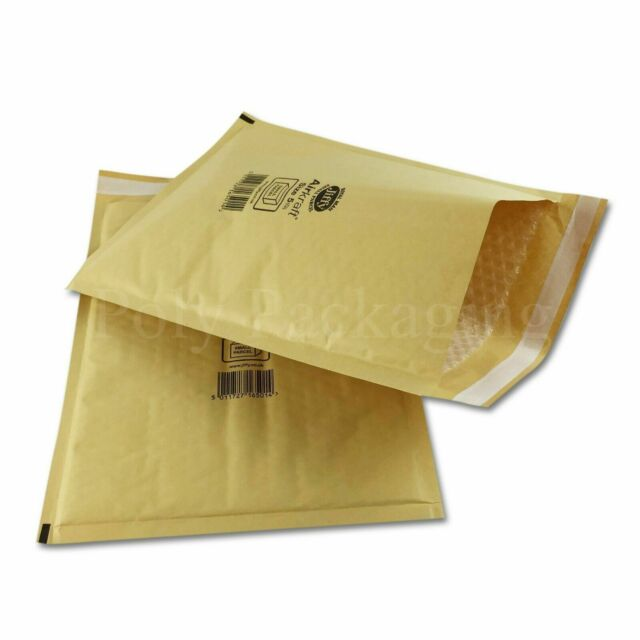 500 x JIFFY JL5 GOLD PADDED BAGS ENVELOPES 260x345mm