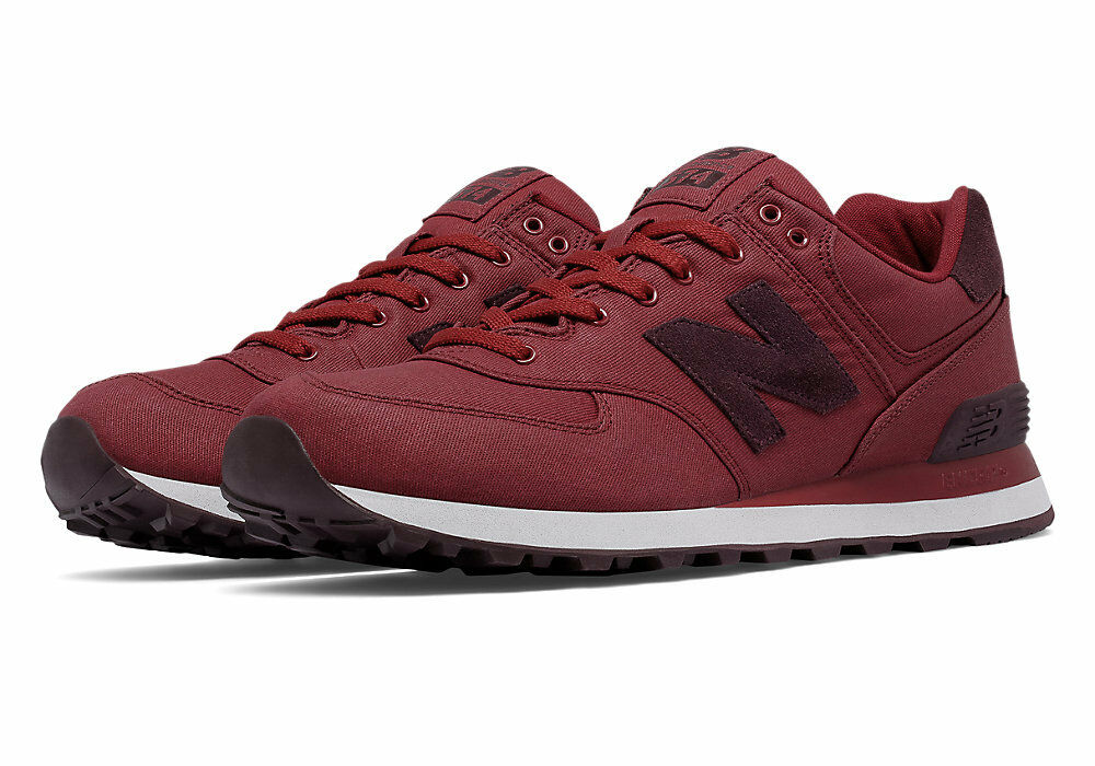 reputable site ee0a7 c98bd ... New Balance 574 574 574 Classic ML574MDA Waxed Canvas sneakers Biking  Red 736d24