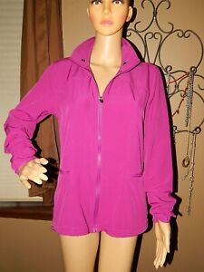 Long Impartial Fabletics Women's S 6 Fuchsia Pink/purple Zippered Athletic Jacket At Any Cost