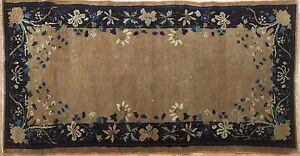 Captivating-Chinese-1900s-Antique-Peking-Rug-Oriental-Carpet-3-x-5-8-ft