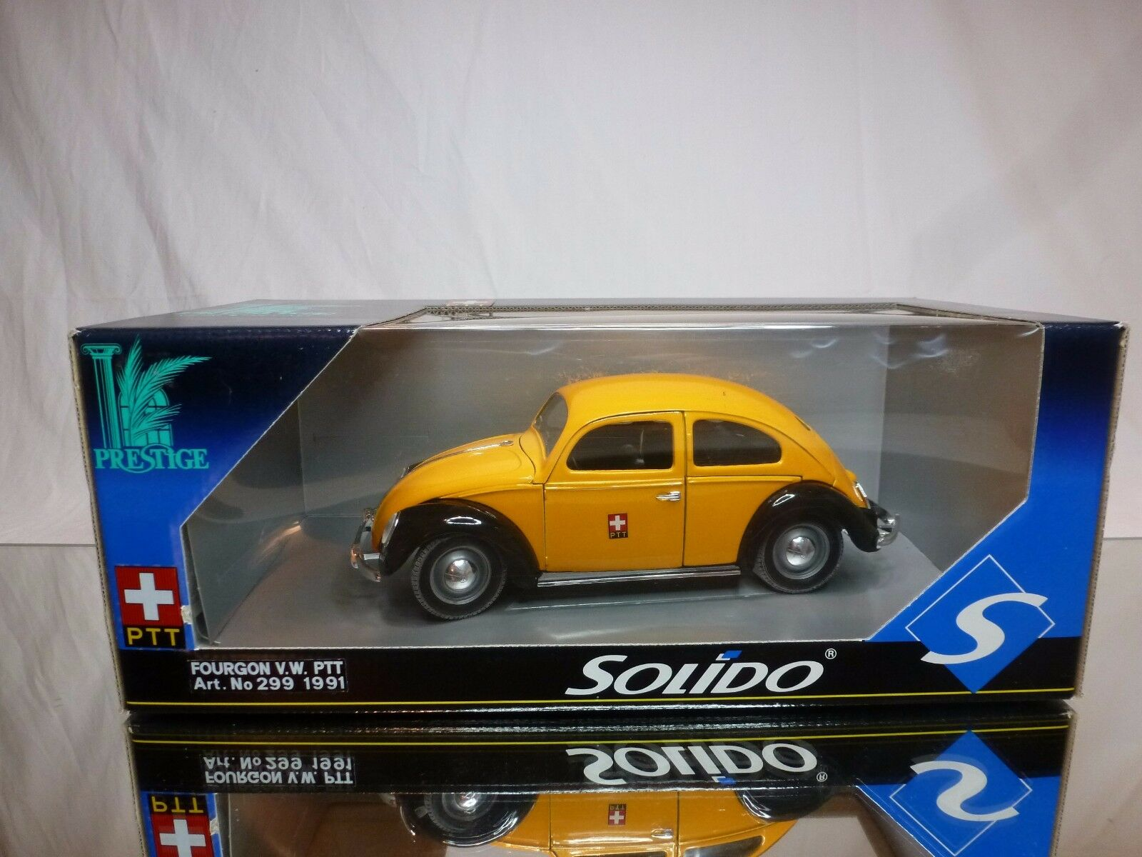 SOLIDO PRESTIGE 299 VW VOLKSWAGEN BEETLE SPLIT - PTT SCHWEIZ 1 18 - GOOD IN BOX