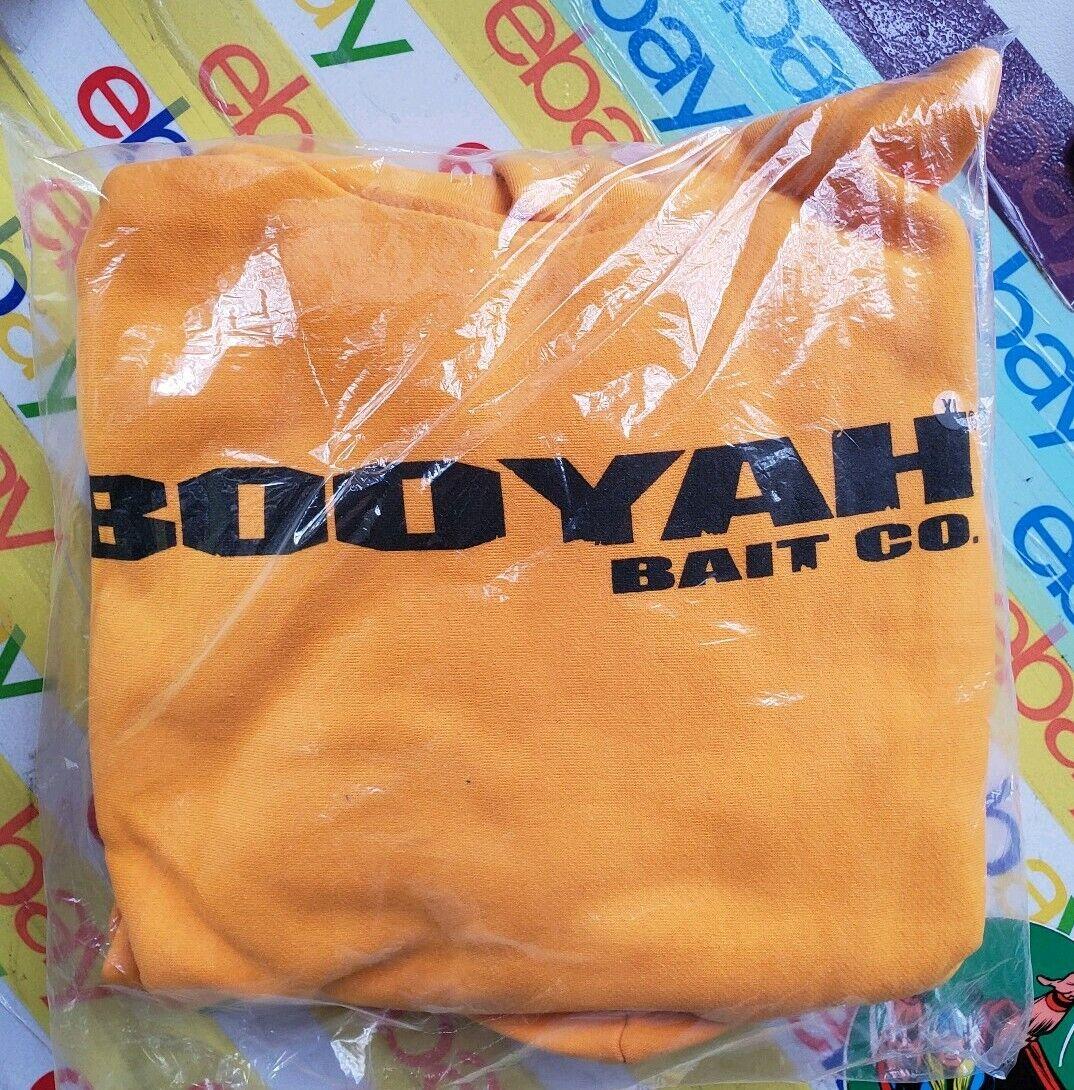 Booyah Baits Hooded Sweatshirt Hoody Hoodie XL  - New In Bag Mustard Yellow - HTF  honest service