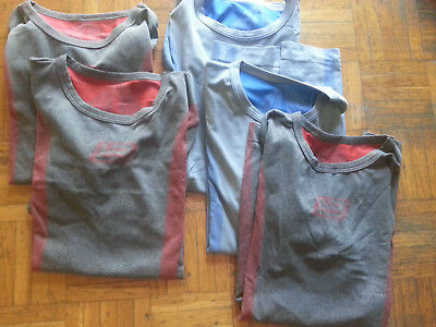 5x Underwear Sport T-shirts Maglietta Tecnica Very Good Conditions Hidden Power