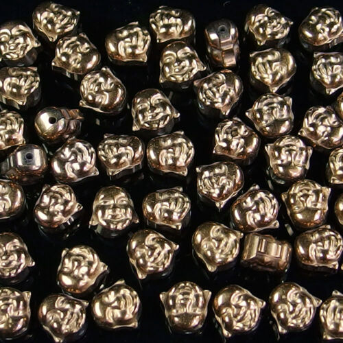 Multi Color Buda tallado cráneo Hematites Piedra Preciosa suelta espaciador perlas piedra Hágalo usted mismo