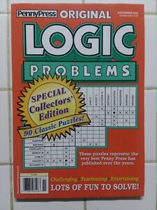 New Penny Press November 2019 Original Logic Problems 73361081483 Ebay