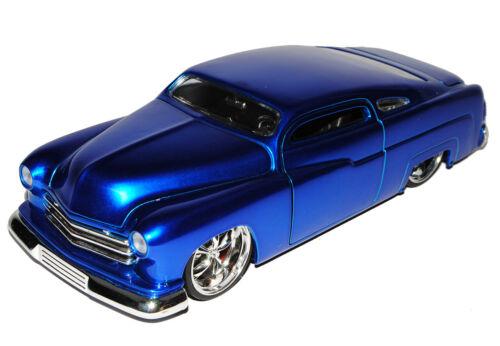 Ford Mercury Coupe Blau 1951 1//24 Jada Modell Auto mit oder ohne individiuellem