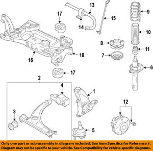 vw volkswagen oem jetta front suspension steering knuckle spindle rh ebay com VW Alternator Wiring Diagram VW 2.0T Engine Diagram