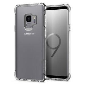 buy popular eba6b 98ce3 Details about For Galaxy S9 / S9 Plus | Spigen® [Rugged Crystal] Slim  Bumper Case Cover