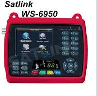 Satlink Ws-6950 Dvb-s Fta Digital Satellite Meter Satellite Tv Receiver 3.5 Lcd