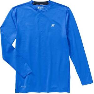 d84c5ad3 $99 RUSSELL Men BLUE COMPRESSION DRI-POWER LONG-SLEEVE ATHLETIC ...