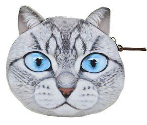 h.grau Geldbörse Mit Süßem Katzenmotiv Gewissenhaft Flauschiger Münzbeutel Geldbeutel