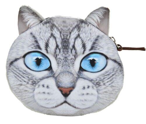 Geldbörse mit süßem Katzenmotiv Flauschiger Münzbeutel Geldbeutel