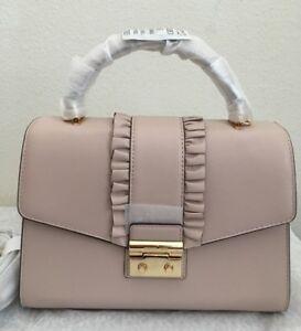 04aef348e694 NWT MICHAEL KORS Sloan Medium Top Handle Leather Satchel Bag  298 ...
