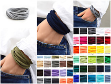 3er Paket Wickelarmband Wunschfarbe, Stoffarmband, Freundschaftsarmband, unisex