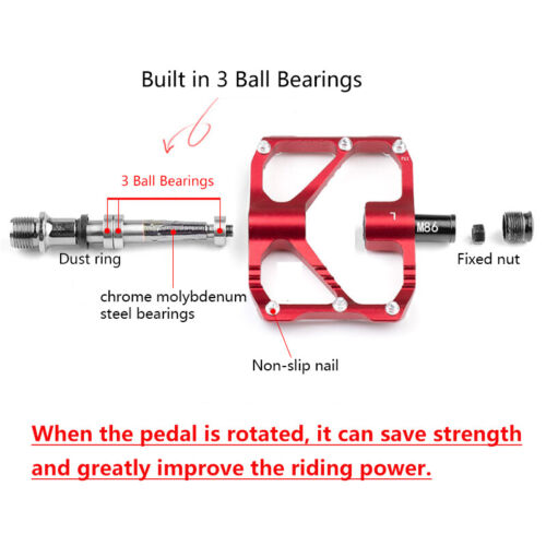 "9//16/"" Ultralight Aluminum Mountain Bike Pedals Flat//Platform Pedal  3 Bearings"