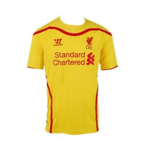 best website 430f0 541a2 Details about Warrior Liverpool FC Away Youth Replica Jersey Yellow NWT  Size YXL (10-11 Years)