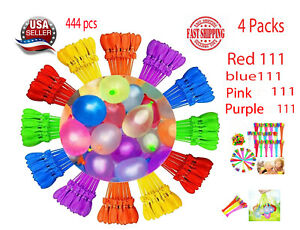 4-packs-444-Bunch-Water-Balloons-Self-Sealing-Already-Tied-Fun-Summer-Pool-Toy