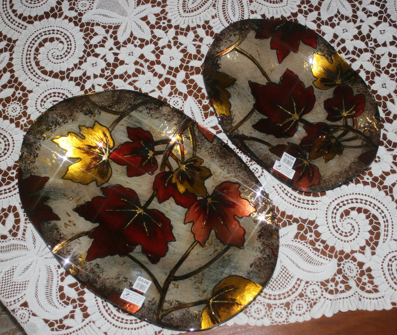 Gilde ovale Wellenschale Acero im 2er Set Schalen 40469 40470 40470 40470 Glas 30  40 cm | Am praktischsten  8f2e9d